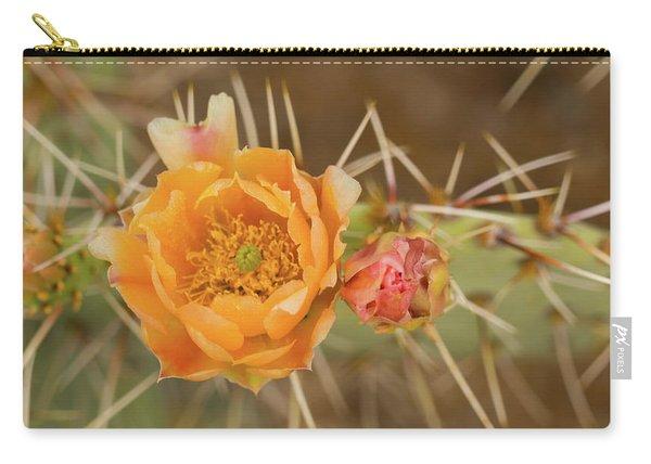 Orange Cactus Bloom Saguaro National Park Arizona Carry-all Pouch