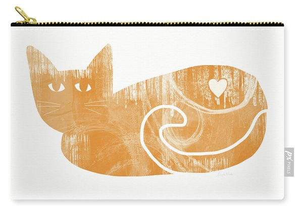 Orange Cat- Art By Linda Woods Carry-all Pouch
