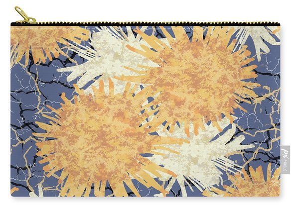 Orange Cobwebs Pattern Carry-all Pouch