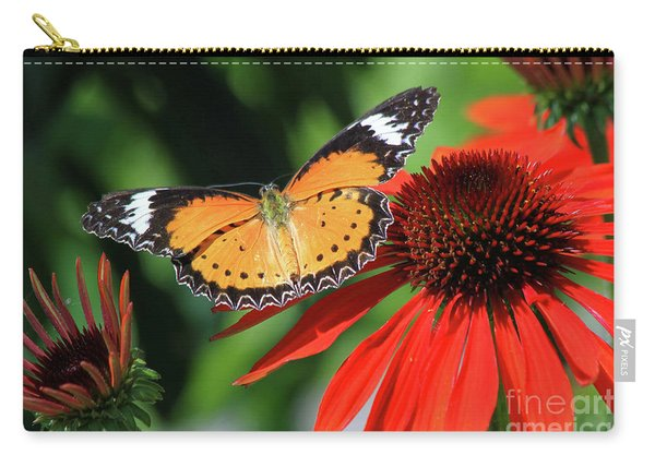 Orange Lacewing Carry-all Pouch
