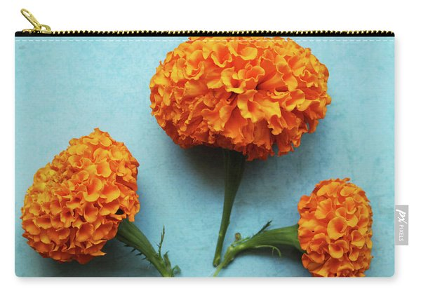 Orange Marigolds- By Linda Woods Carry-all Pouch
