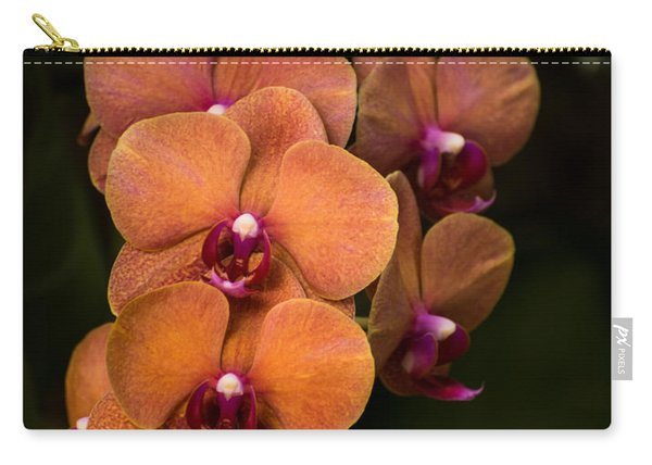 Orange Orchids Carry-all Pouch