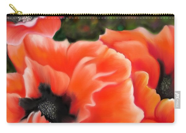 Orange Poppies Carry-all Pouch