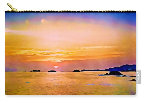 Orange Sky In Ixtapa, Mexico Carry-all Pouch