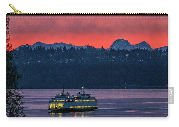 Orange Sky With Purple Sea Carry-all Pouch
