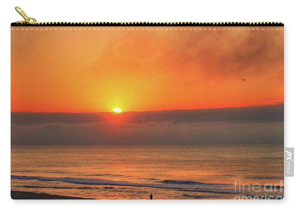 Orange Sunrise On Long Beach Island Carry-all Pouch