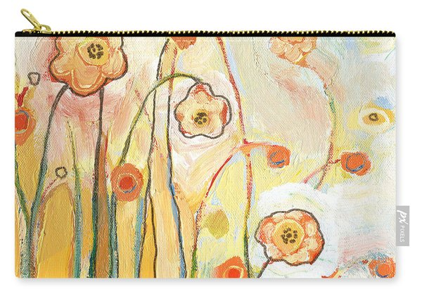 Orange Whimsy Carry-all Pouch