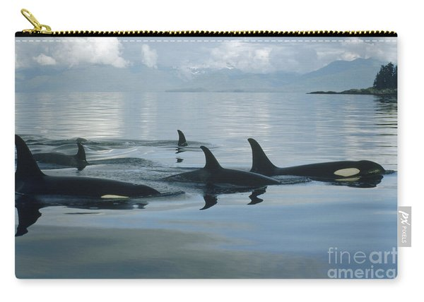 Orca Pod Johnstone Strait Canada Carry-all Pouch