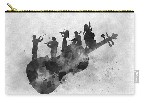 Orchestra Black And White Carry-all Pouch