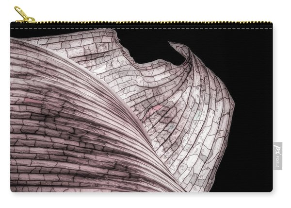 Orchid Leaf Macro Carry-all Pouch