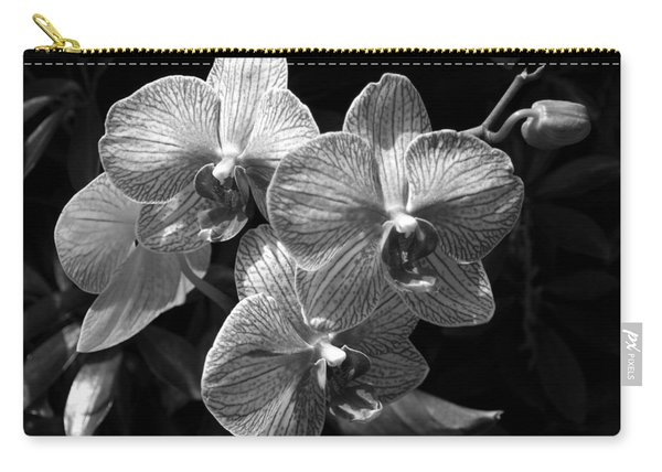 Orchids In Black And White Carry-all Pouch