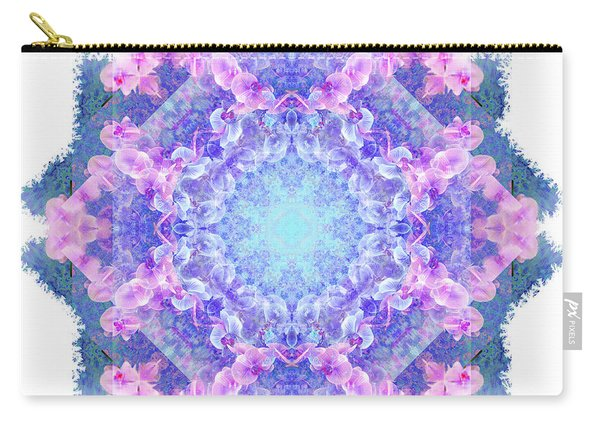 Orchids Mandala Carry-all Pouch