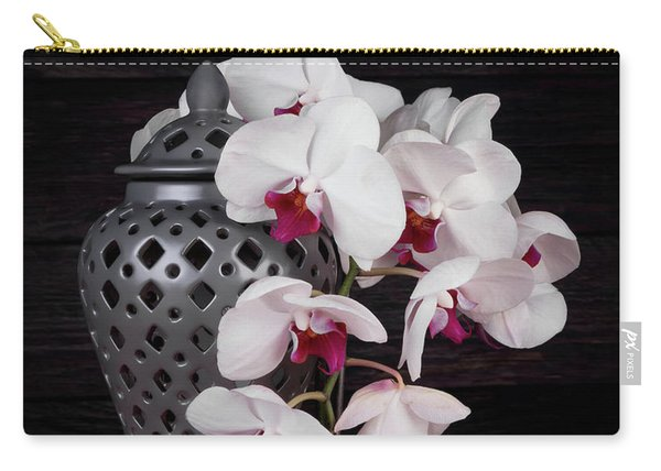 Orchids With Gray Ginger Jar Carry-all Pouch