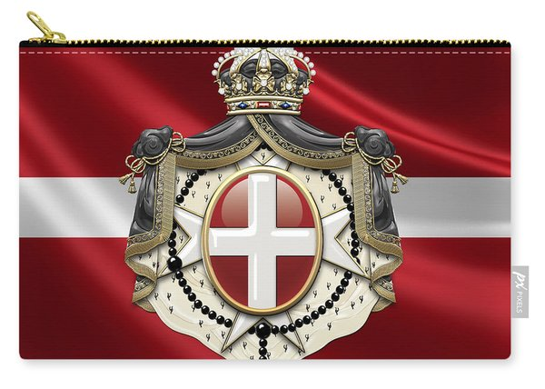 Order Of Malta Coat Of Arms Over Flag Carry-all Pouch