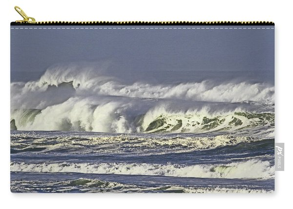 Oregon Coast Waves On A Windy Morning Carry-all Pouch