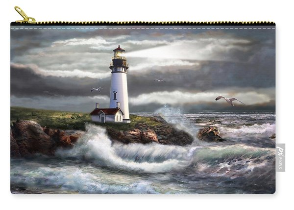 Oregon Lighthouse Beam Of Hope Carry-all Pouch