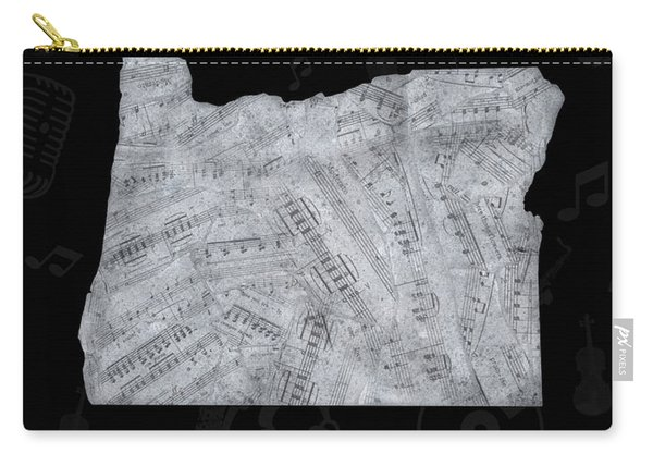 Oregon Map Music Notes 2 Carry-all Pouch