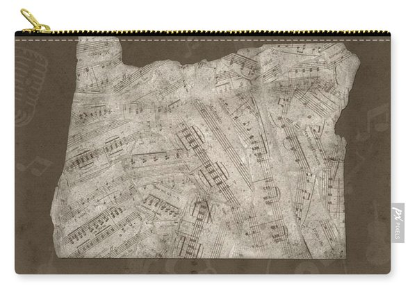 Oregon Map Music Notes 3 Carry-all Pouch