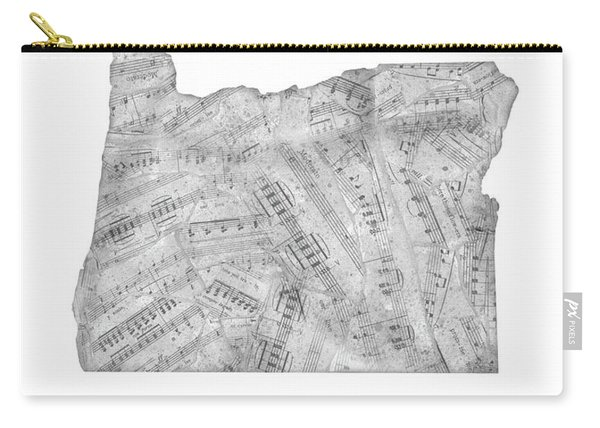 Oregon Map Music Notes Carry-all Pouch