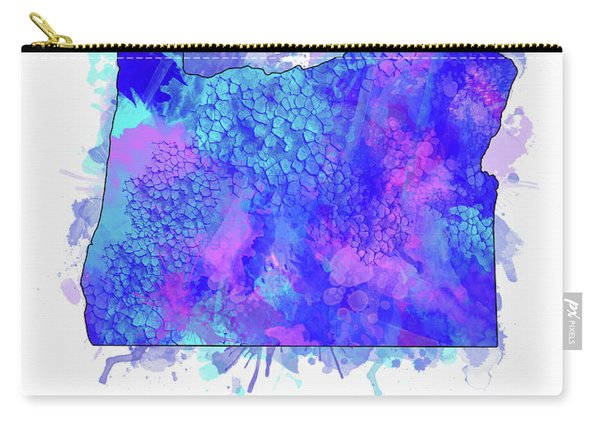 Oregon Map Watercolor 2 Carry-all Pouch
