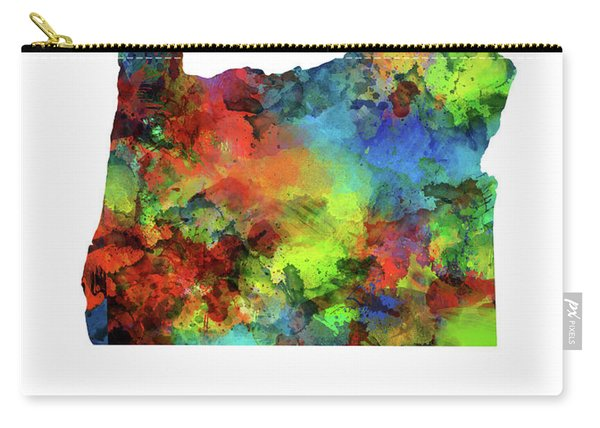 Oregon Map Watercolor Carry-all Pouch