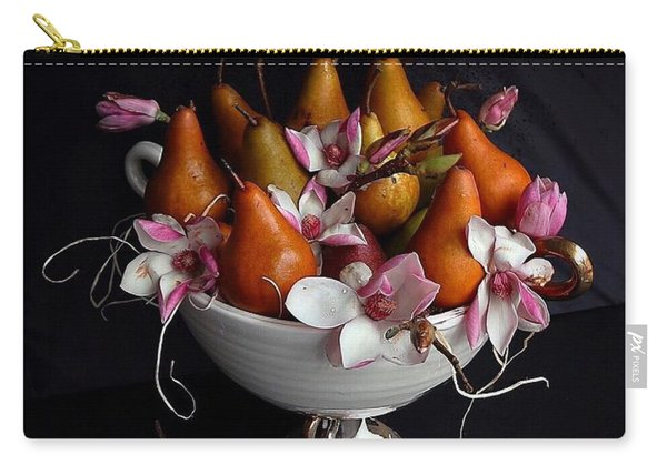 Organic Bosc Pears And Magnolia Blossoms Carry-all Pouch