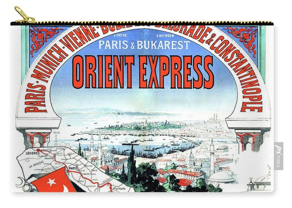 Orient Express Railway Route, Travel Poster Carry-all Pouch