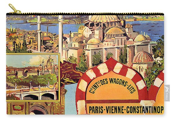 Orient Express, Railway, Vintage Travel Poster Carry-all Pouch