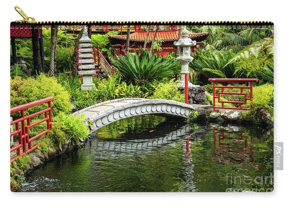 Oriental Bridge In A Tropical Garden Carry-all Pouch