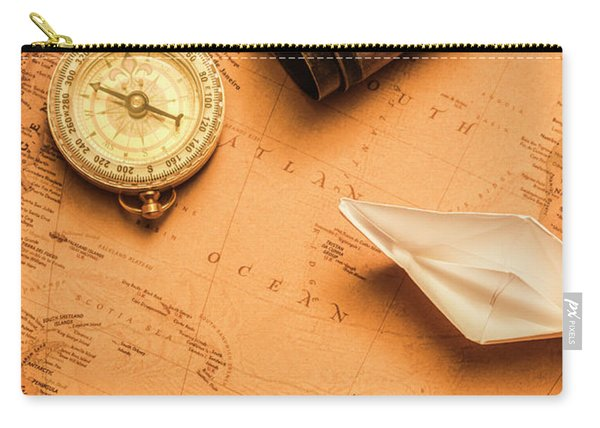 Origami Paper Boats On A Voyage Of Exploration Carry-all Pouch