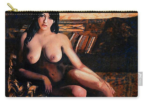 Original Female Nude Goddess Eirene II Seated Carry-all Pouch