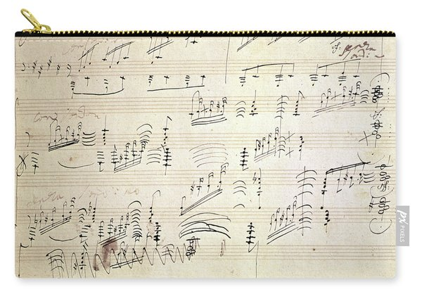 Original Score Of Beethoven's Moonlight Sonata Carry-all Pouch