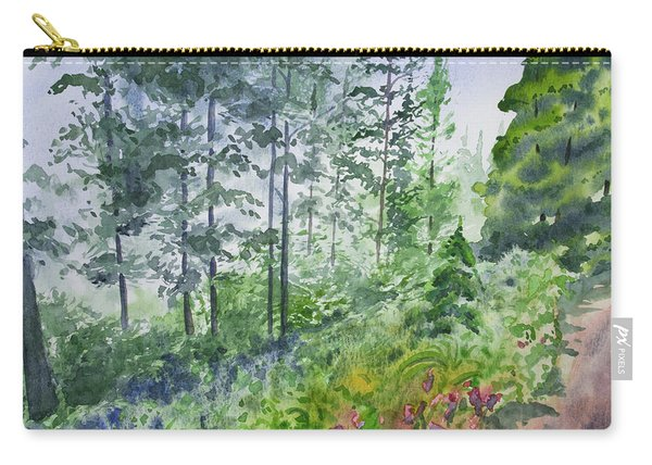Original Watercolor - Summer Pine Forest Carry-all Pouch