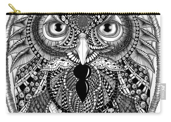 Ornate Owl Carry-all Pouch
