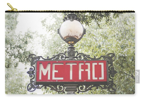 Ornate Paris Metro Sign Carry-all Pouch