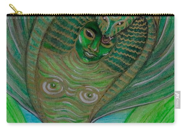 Carry-all Pouch featuring the drawing Wadjet Osain by Gabrielle Wilson-Sealy
