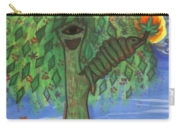 Carry-all Pouch featuring the drawing Osain Tree by Gabrielle Wilson-Sealy