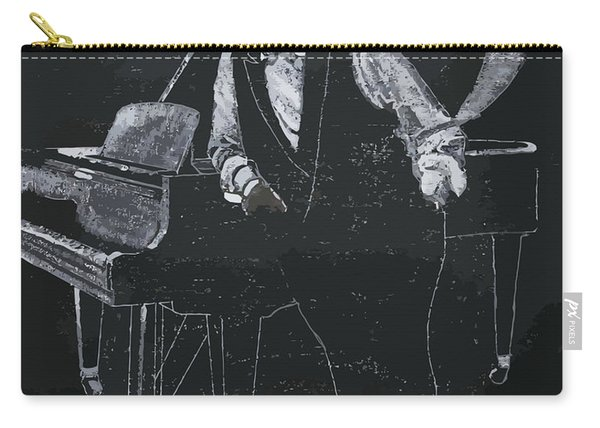Carry-all Pouch featuring the painting Oscar Peterson by Richard Le Page