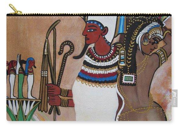 Blaa Kattproduksjoner         Osiris With Goddess Isis And 4 Grandkids Carry-all Pouch