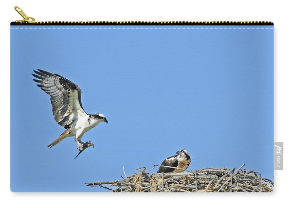 Osprey Brings Fish To Nest Carry-all Pouch