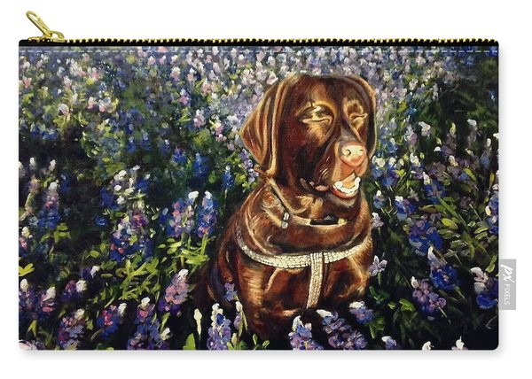 Otis In The Bluebonnets Carry-all Pouch