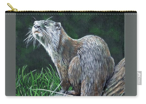Otter On Branch Carry-all Pouch