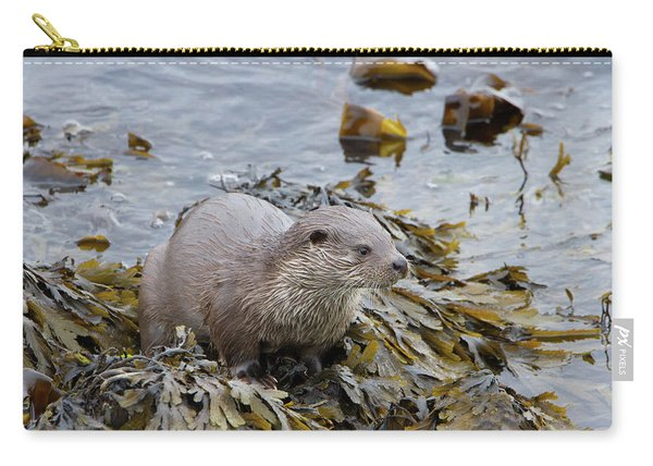 Otter On Seaweed Carry-all Pouch