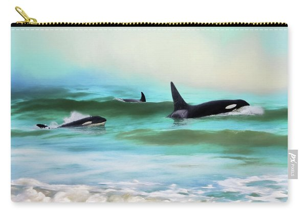 Our Family - Orca Whale Art Carry-all Pouch
