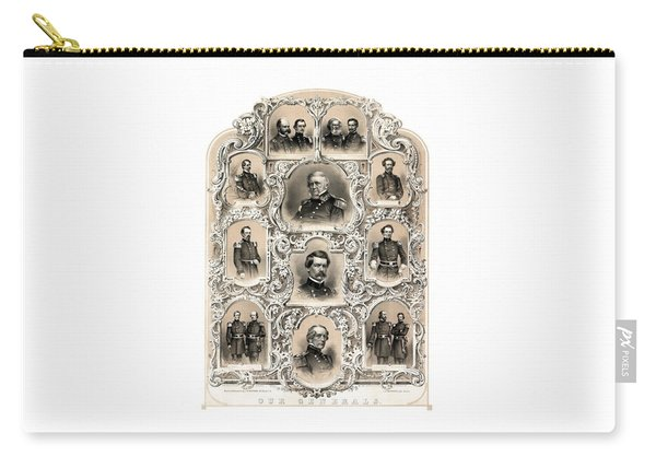 Our Generals -- Union Civil War Carry-all Pouch