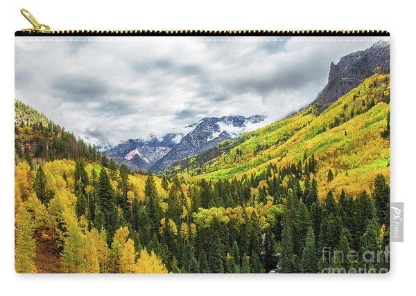 Carry-all Pouch featuring the photograph Ouray Morning by Susan Warren