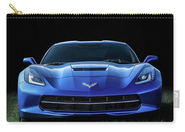 Blue 2013 Corvette Carry-all Pouch