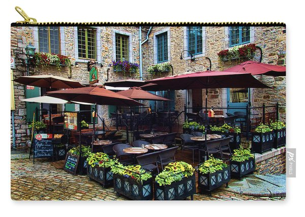 Outdoor French Cafe In Old Quebec City Carry-all Pouch