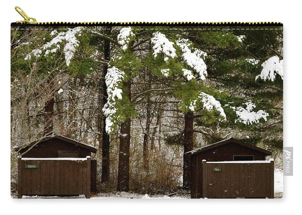 Outhouses In The Cold Carry-all Pouch