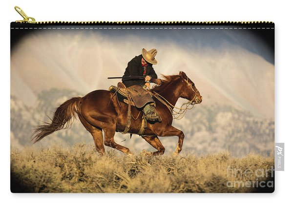 Outlaw Kelly Western Art By Kaylyn Franks Carry-all Pouch